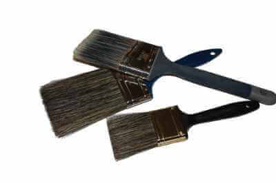 photo of 3 professional quality brushes for house paint