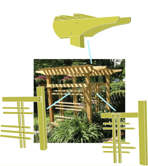 drawing of arbor feature details
