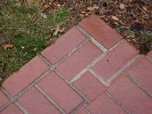photo of brick steps and mortar joints