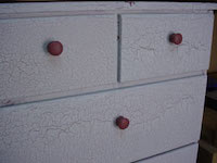 crackle painted chest of drawers