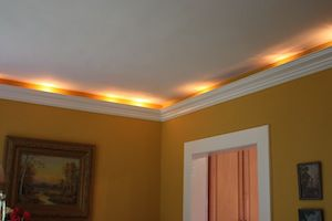 crown molding in dining room
