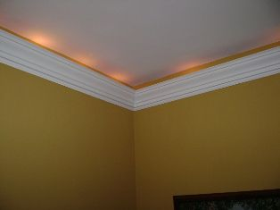 How To Install Crown Molding Lighting Do It Yourself Help