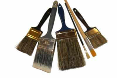 photo of various brushes for house paint