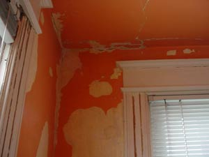 scraped walls and trim molding