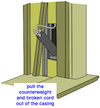 window counterweight access panel