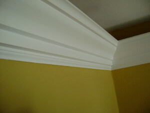 Stacked Crown Molding In A Dining Room